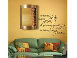 Marilyn monroe imperfection wall decal decor vinyl quote for Bedroom nothing lasts chords