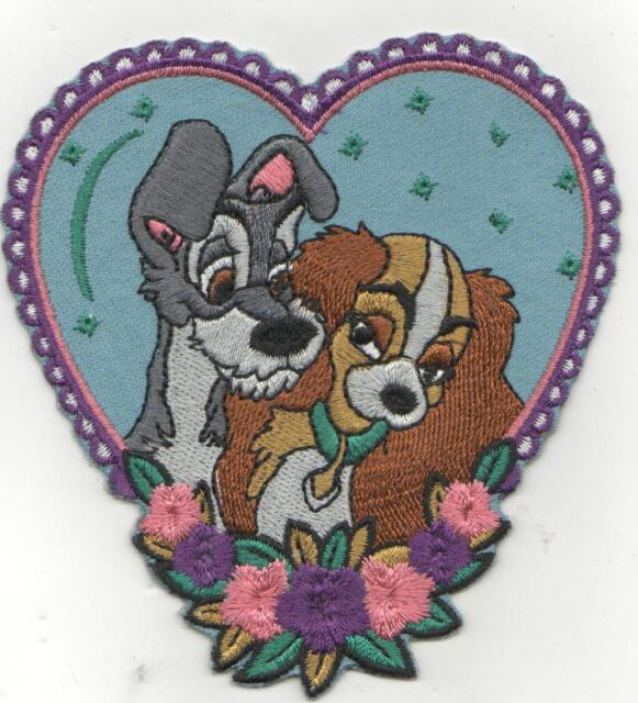 LADY AND THE TRAMP IRON ON PATCH BUY 2 GET 1 FREE = 3