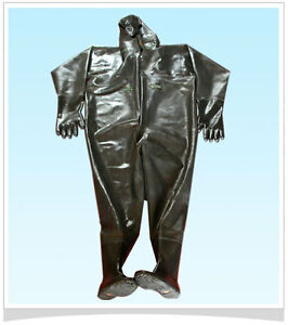 New-Rubber-FISHING-WADER-WATERPROOF-SUIT-with-hat-and-gloves