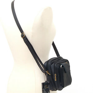 Leather-Travel-Clutch-Shoulder-Belt-Camera-Bag-Purse-NW
