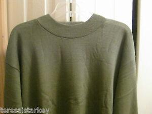 Mens-Sweater-shirt-Gray-Mock-Neck-M-XL-2X-3X-quality-executive-first-quality-New