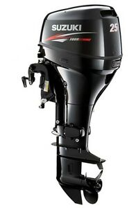 25 Hp Suzuki 4 Stroke Df25el Outboard Motor New Ebay