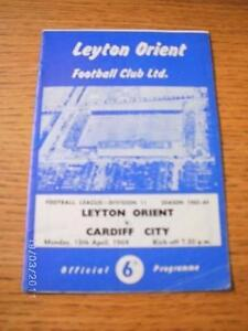 13041964 Leyton Orient v Cardiff City  Slight Creased No obvious faults un - Birmingham, United Kingdom - Returns accepted within 30 days after the item is delivered, if goods not as described. Buyer assumes responibilty for return proof of postage and costs. Most purchases from business sellers are protected by the Consumer Contr - Birmingham, United Kingdom