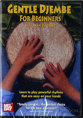 Gentle Djembe for Beginners Learn How to Play Hand Drum Tuition DVD NEW SEALED