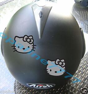 sticker hello reflechissant casque moto scooter carrenage securite ebay