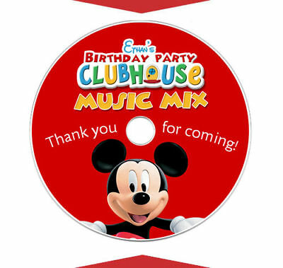 6 MICKEY MOUSE CLUBHOUSE Birthday Party Favor CD LABELS