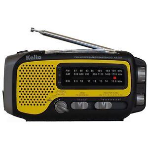 Kaito-KA350-Solar-Crank-AM-FM-Shortwave-Weather-Radio-Yellow
