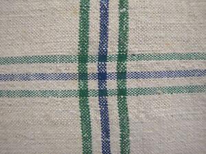 Vintage-linen-cotton-green-blue-hand-kitchen-towel