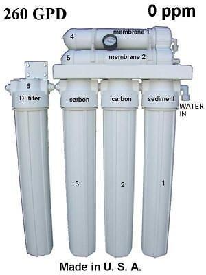Aquarium Reef 260 GPD REVERSE OSMOSIS RO & DI WATER PURIFICATION PURIFIER SYSTEM