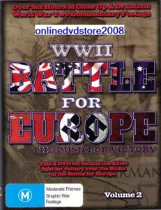 WWII-World-War-II-BATTLE-FOR-EUROPE-Push-For-Victory-2-DVD-SET-NEW-SEALED
