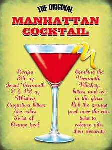 The-Manhattan-Cocktail-Pub-Bar-Restaurants-Small-Metal-Tin-Sign-Picture