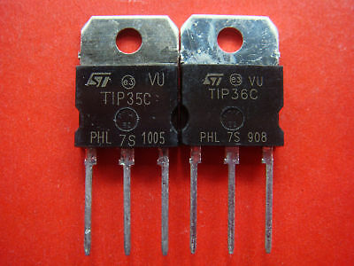 10pair TIP35C + TIP36C Power Transistor 25A 100V 125W