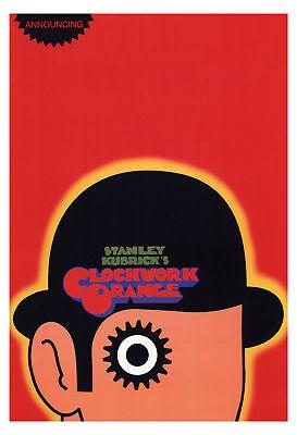 A Clockwork Orange Movie Poster, Classic 70's Kubrick
