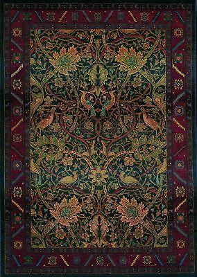 2x3 William Morris Arts & Crafts Mission Style Multi Colored Area Rug