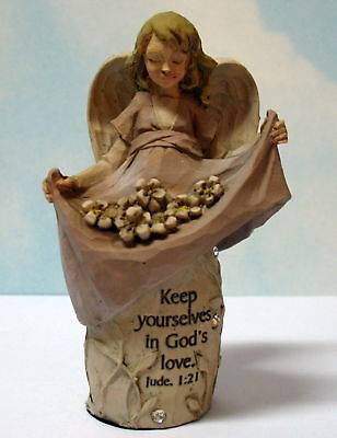 JEWELS OF FAITH ANGEL ~ KEEP YOURSELVES IN GOD'S LOVE