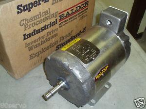 Baldor Ac Motor 1 2hp 35j755 90 208 230 460vac 60hz