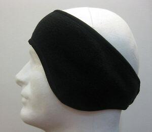 BLACK-SOFT-FLEECE-STRETCH-HEADBAND-EAR-WARMER-WRAP