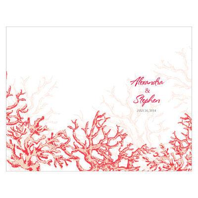 Coral Reef Beach Personalized Wedding Programs 24/pk