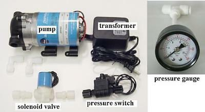 RO Booster Pump Assembly Reverse Osmosis Water System Up Pressure Solenod Valve