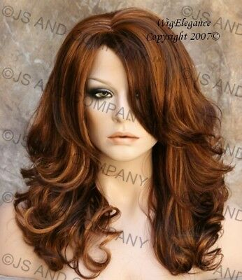 Sexy Wavy New Long Style Auburn and strawberry blonde mix Wig JSBD 27-30-33