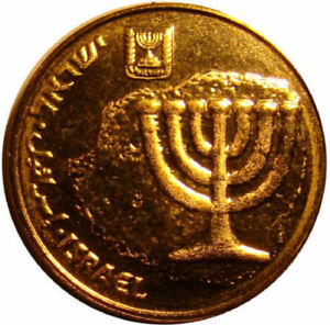 Details About 3 Three Ancient Menorah On Modern Israel Israeli Coins 10 Agorot Unc Coin Lot