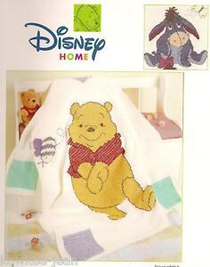 Disney crochet afghan pattern booklet: Pooh Snuggle-ups; eeyore; tigger; piglet