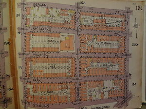 ORIG 1929 Brooklyn Ocean Hill NYC New York City Map