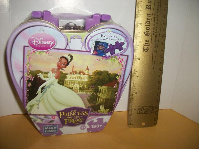 DISNEY PRINCESSES Jigsaw Puzzle TOY Princess Tiana FROG Castle TIN Jig Saw Game