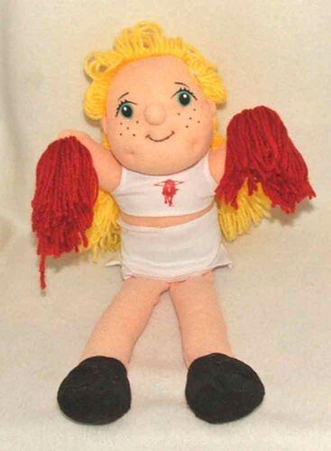 Mascot Factory Blonde Collegiate Cheerleader Doll *Texas Texas Tech or Virginia