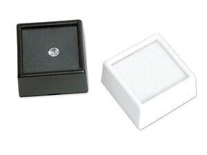 10 Jewelry Square Glass Top Gemstone Gem Jar Box Foam W