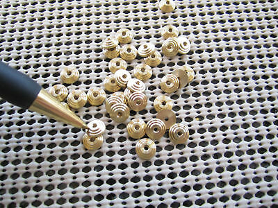 BULLS EYE COLLARS~FOR WADE BUTCHER~OR ANY LARGE RAZOR~SOLID BRASS