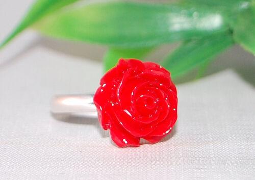 Ring +++ Fingerring +++ verstellbar +++ Blume Blüte Kawaii Blütenring Blumenring