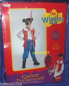 ... The-Wiggles-Deluxe-Captain-Feathersword-Costume-Size-3- & The Wiggles Deluxe Captain Feathersword Costume Size 3-4 T Toddler ...