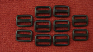 100-x-25mm-Black-Plastic-3-Bar-Slides-For-Webbing-Bags-Straps-Fastenings-DIY-Etc
