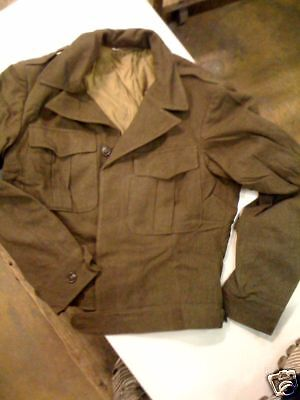 "WWII ""IKE"" EISENHOWER WOOL JACKET NEW OLD STOCK SIZE 36L GENUINE MILITARY ISSUE"