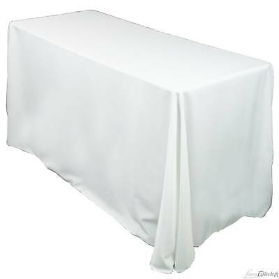 10 Pack 90 X 132 Inch Rectangle Tablecloths - 10 Colors