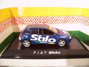 FIAT-STYLO-tour-de-france-bleu-au-1-43-NOREV-771016-voiture-miniature-collection