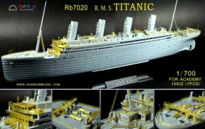 Photo-Etched PE 1/700 R.M.S. TITANIC full upgrade parts RB7020