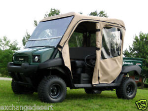 DOORS-REAR-WINDOW-Enclosure-for-Existing-Windshield-Top-Kawasaki-MULE-TRANS