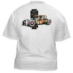 Hot-Rod-Tshirt-100-Cotton-V8-Rusty-RatRod-5-Window-Art-SS-303