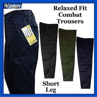 Mens Short Leg Combat Workwear Work Cargo Army Trousers Pants Combat Clothing
