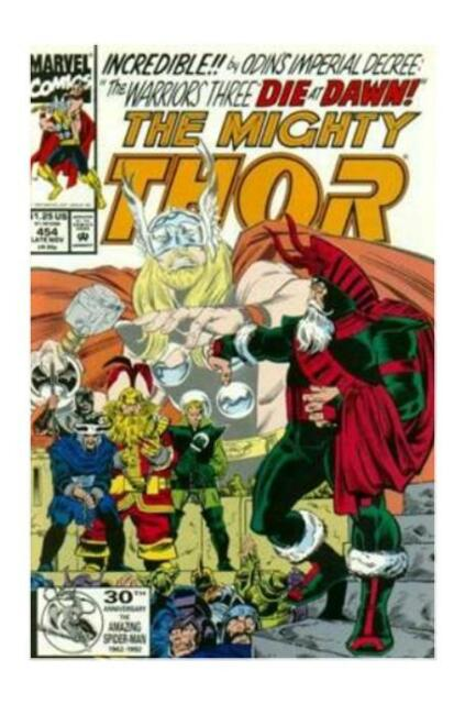 MARVEL COMICS NOV 1992 THE MIGHTY THOR #454 ODIN WARRIORS THREE