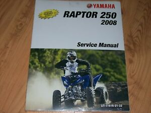 yamaha raptor 250 atv service repair manual 08 13 ebay. Black Bedroom Furniture Sets. Home Design Ideas