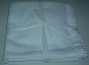 QVC-Pure-Cotton-Napkins-16-X16-Set-Of-8-Square-White-Napkins-Washable