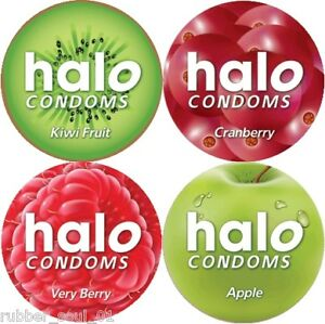 12-x-Pasante-Halo-Juice-Sensations-Condoms-FREE-UK-P-amp-P