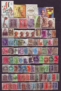 India-Used-100-Different-Inc-EXTRA-LARGE-STAMPS