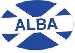 Scottish-Car-Bumper-Window-Oval-Sticker-Decal-Vinyl-Scotland-Saltire-Alba-Flag