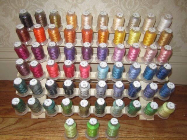 63 Spool Embroidery Machine Thread for Bernina Embroidery Machine FREE SHIP