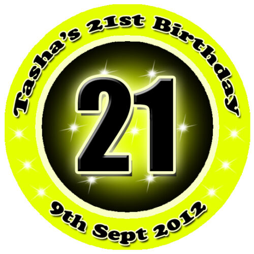 Personalised Birthday Party Stickers with YOUR AGE  1st 13th 16th 21st 30th 40th