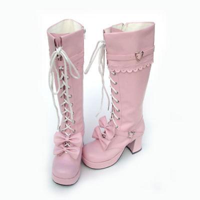 Lovely Nana Japan lolita punk visual kei knee high bootS Japan fashion  US 5-11